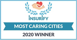 most caring cities, winners social badge